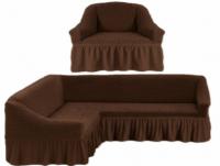 Чехол на угловой диван и 1 кресло