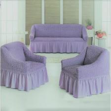 Чехол на диван и два кресла / светло - фиолетовый 217
