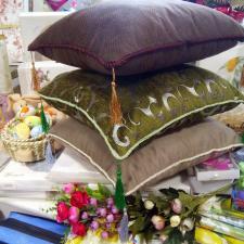 Декоративные подушки  45x45 с кисточками в ассортименте