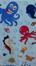 Детское ПОЛОТЕНЦЕ ВЕЛЮР с морской тематикой, Турция