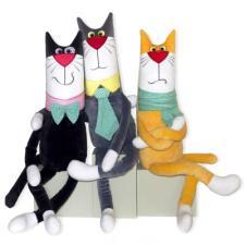 Антистрессовая игрушка Кот джентельмен серый 75*15 см (Штучки, к которым тянутся ручки) (18аси51ив-3)