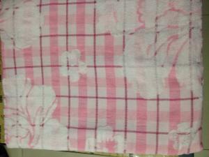 Простынь махровая из хлопка и льна. Цвет розовый.